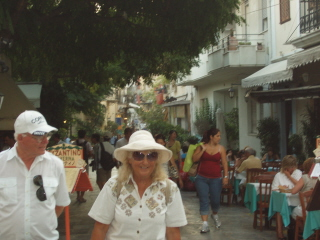 Walking the streets in Plaka after dinner