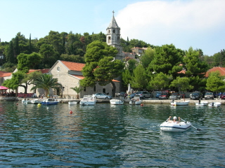 Cavtat, rowing back from customs