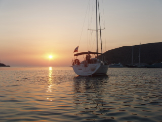 sunset at Kithnos Island