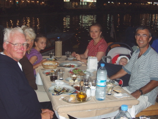 Dinner in Foca, including seaweed beans, fish, mezes, yummy!