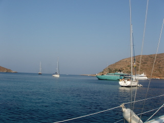 Leaving Kithnos