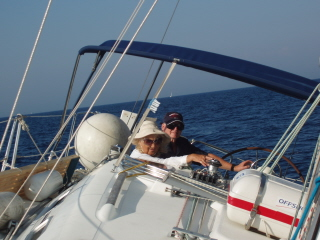 On the way to Vis, 8-9 knots speed