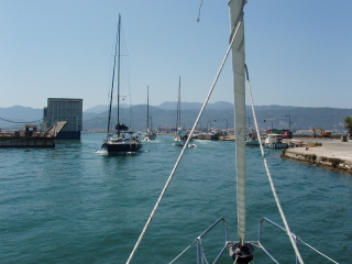 Entering Lefkas channel