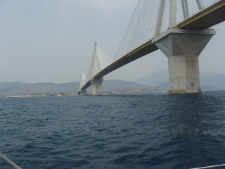 Rion Bridge east entrance of Corinth canal